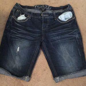 Rue 21 blue jean Bermuda shorts